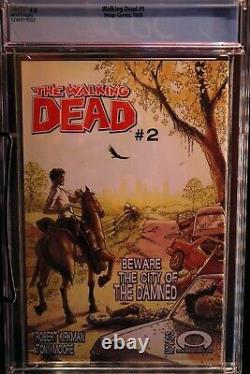 THE WALKING DEAD #1 (First Print) CGC 9.0 Black Robert Kirkman Image Comics 2003