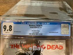 THE WALKING DEAD 1 LAST WINE VARIANT RARE Kirkman Aldard CGC 9.8 Skybound