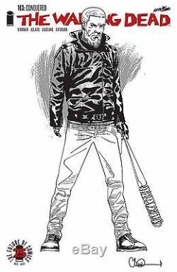 The Walking Dead #163 1500 Black & White Variant Comic Book Image NM Rick Negan