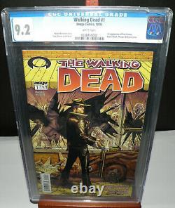 The Walking Dead #1 (2003 1st PRINT) CGC 9.2 NM-RARE KEY Case Crack/Press it
