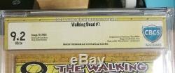 The Walking Dead #1 CBCS 9.2 Signed Tony Moore 1st Rick & Carl Grimes NOT CGC