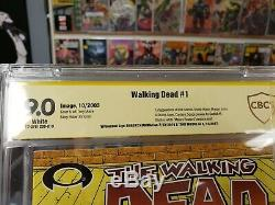 The Walking Dead #1 CBCS Signature Series 9.0. Signed By Kirkman & Moore