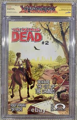 The Walking Dead 1 CGC 9.6 SS Robert Kirkman and Tony Moore