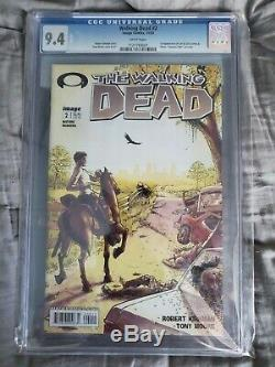The Walking Dead #1, CGC 9.8 1st Print, and The Walking Dead #2, CGC 9.4 1st Pri