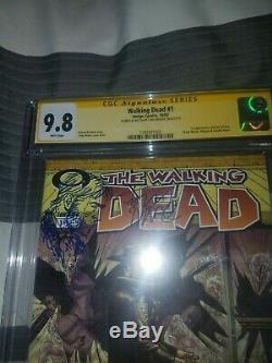 The Walking Dead #1 CGC 9.8 SS BLACK LABEL RICK GRIMES SKETCH TONY MOORE