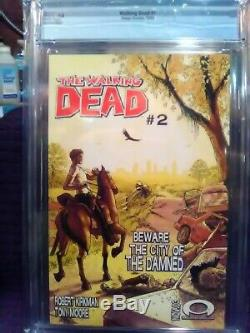 The Walking Dead # 1 CGC 9.8 White pages! Image Comics 2003