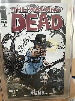 The Walking Dead #1 CGC graded 9.4 Signed By Michael Golden First Print