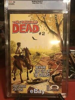 The Walking Dead 1 cgc 9.8 1st Print, 1st Rick Grimes New Cgc Case Free Ship BIN