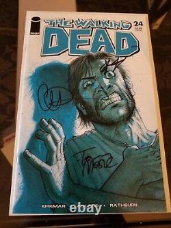 The Walking Dead #24 NM SIGNED by Robert Kirkman, Charlie Adlard, Tony Moore