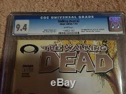 The Walking Dead #2 CGC 9.4. 1st Print 11/03. Image Comics