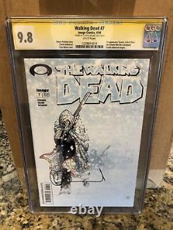 The Walking Dead #7 CGC graded 9.8 SIGNED BY CHARLIE ADLARD Image comics 7