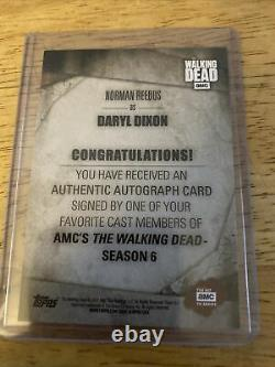 The Walking Dead Authentic Autograph Card Norman Reedus As Daryl Dixon