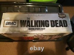 The Walking Dead Bookends By Gentle Giant. Very Rare Collectible Limited Edition