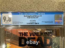The Walking Dead Deluxe 1 Black Foil CGC 9.8. In Hand /200