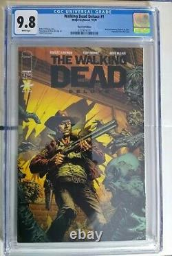 The Walking Dead Deluxe #1 Black Foiled Edition CGC 9.8 Finch Variant- 1 of 200