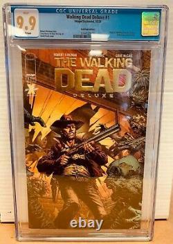 The Walking Dead Deluxe #1 Gold Foil Variant CGC 9.9 MINT Image Comics 2020