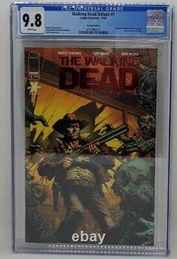 The Walking Dead Deluxe #1 Ruby Red Foil Cover Variant CGC 9.8