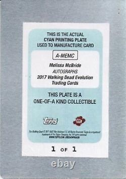 The Walking Dead Evolution, Melissa McBride Carol printing plate Auto #1/1