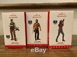 The Walking Dead Hallmark Ornament Set of All 6 including RARE Daryl Dixon (New)