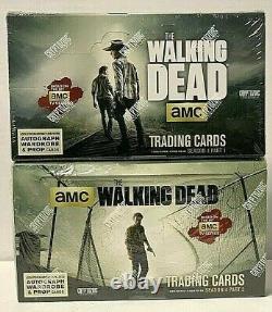 The Walking Dead Season 4 Part 1 & 2 Hobby Factory Sealed Box Cryptozoic