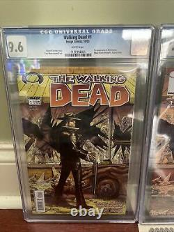 The Walking Dead first print 1 Graded (9.6)Also Walking Dead 10th A. E #1 (9.8)