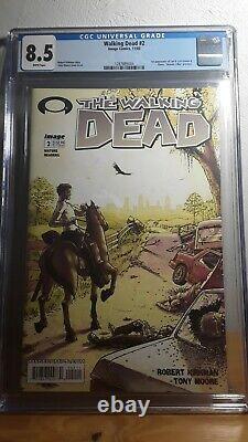 The walking dead comic #2 CGC 8.5