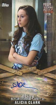 Topps Fear The Walking Dead Autograph Card ADC-1 Alycia D. Carey As Alicia Clark