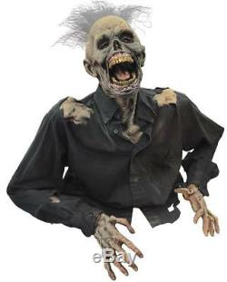 VIDEO LIFESIZE ANIMATED RISING ZOMBIE CORPSE Walking Dead Halloween Prop HAUNTED