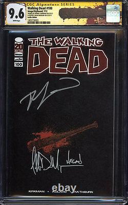 WALKING DEAD #100 (Lucille variant) CGC 9.6 SS / Signed by Kirkman & Negan