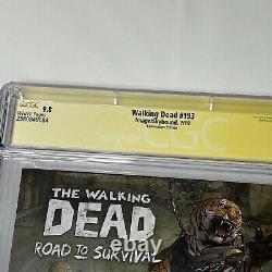 WALKING DEAD 193 CGC 9.8 SS SDCC Variant Last Issue Signed Robert Kirkman TWD