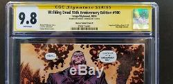 Walking Dead #100 15th Ann 1100 Harren E Variant Cgc Ss 9.8 Signed Kirkman