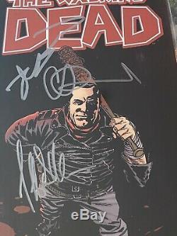 Walking Dead #100 CGC 9.6 SS x3 Signed ADLARD KIRKMAN JEFFREY D MORGAN 2nd Print
