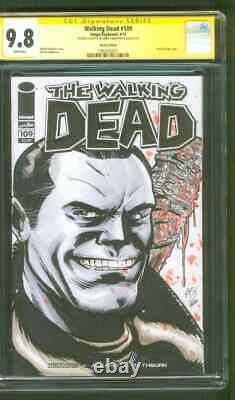 Walking Dead 109 CGC 9.8 SS Kirkpatrick Original art Negan Lucille sketch
