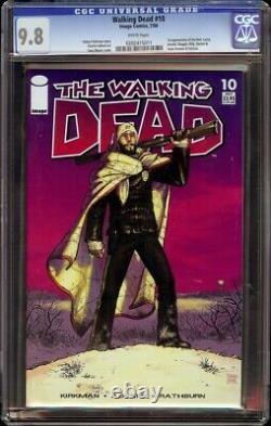 Walking Dead # 10 CGC 9.8 White (Image, 2004) 1st Hershel & Maggie