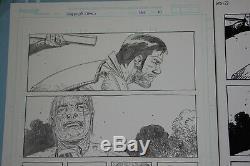 Walking Dead #133 pg 10 Dante vs Whisperers revealed Charlie Adlard original art