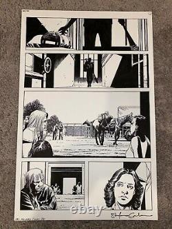 Walking Dead #150 page 1 Dwight with Lucille Charlie Adlard original art