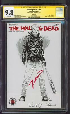 Walking Dead 163 CGC 9.8 SS Robert Kirkman Sketch Variant Cover Death Paula Key