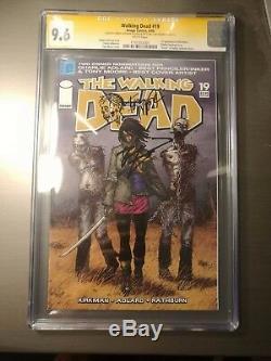 Walking Dead #19 1st Michonne CGC Signed 2x 9.6 NM+ Tony Moore Kirkman Sketch