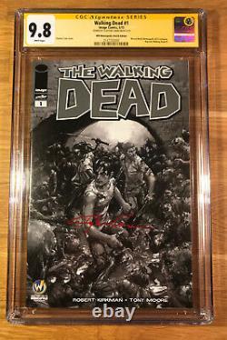 Walking Dead 1, (2015), WW Minneapolis sketch, CGC 9.8 SS, signed Crain, NM/MT