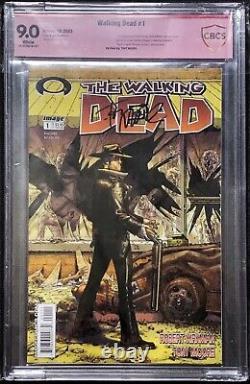 Walking Dead #1 CBCS 9.0 Signed By Tony Moore Not CGC Walking Dead 1 1st Print