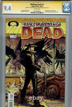 Walking Dead 1 CGC 9.4 SS X2 1st print Robert Kirkman Tony Moore AMC Zombies 2 3
