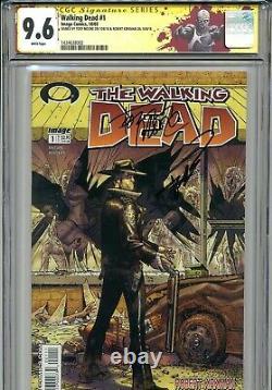 Walking Dead 1 CGC 9.6 SS X2 1st print Robert Kirkman Tony Moore AMC Zombies 2 3