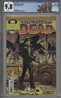 Walking Dead 1 CGC 9.8 Rick Grimes Label 1st Morgan Robert Kirkman Tony Moore