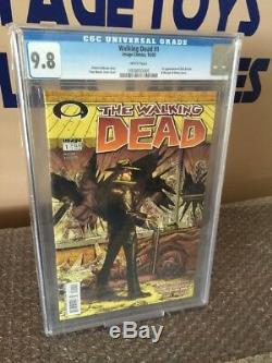 Walking Dead 1 CGC 9.8 White Pages! Daryl Dixon Rick Grimes-HOT BOOK-