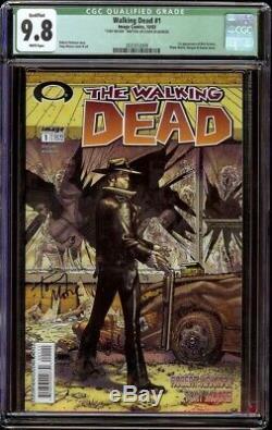 Walking Dead # 1 CGC 9.8 White Qualified (Image, 2003) Tony Moore Signature