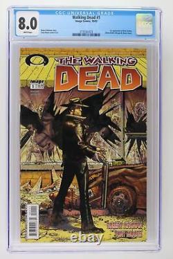 Walking Dead #1 Image 2003 CGC 8.0 1st App Rick Grimes, Shane Walsh & Morgan