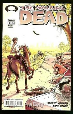 Walking Dead #2 (2nd Print) 1st app. Lori & Carl Grimes & Glenn 2004