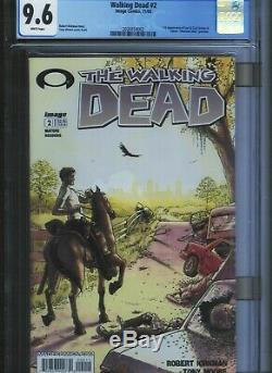Walking Dead # 2 CGC 9.6 White Pages. UnRestored