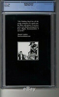 Walking Dead # 3 CGC 9.6 WHITE Pages First Andrea, Carol, Amy, Dale, Sophia