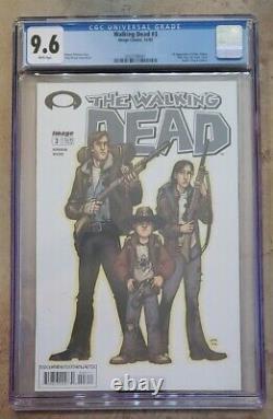Walking Dead # 3 CGC 9.6 White (Image, 2003) 1st appearance Dale & Carol